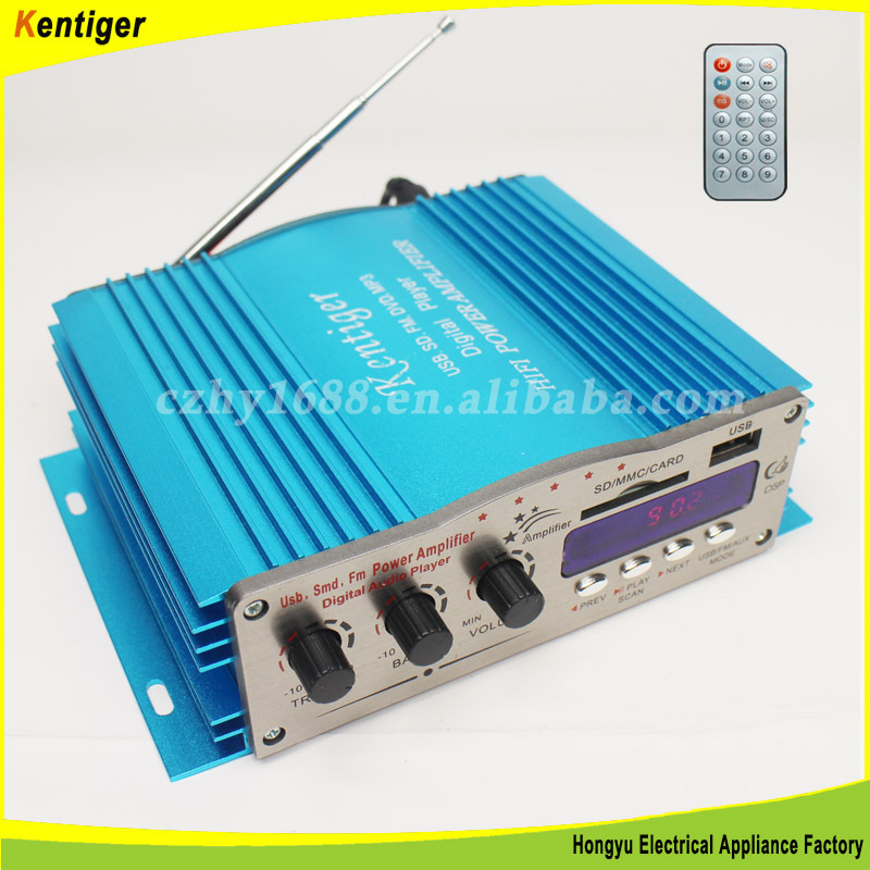 Car Equalizer Amplifier With Fm Radio And Mp3 Player
