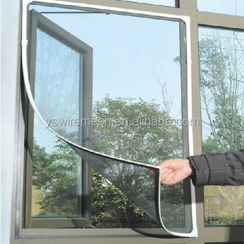 DIY Insect Mosquito Net Fly Screen Window Mesh With Sticky Magnetic Tape Black