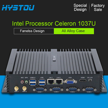 small computer Celeron 1037U dual lan windows xp mini pc intel barebone system gigabit lan fanless design wifi compact pc