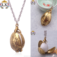 PLX-00304 antique gold plated unique design Magical harry necklace potter dragon egg necklace dragon pendant charms long chain