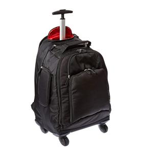 Rolling Laptop Backpack Trolley Travel Bag 4 Wheel Spinner Luggage Business Trips Backpack