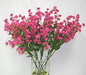 Get Quotations Artificial Flowers Fuchsia Silk Mini Baby S Breath Wedding Filler Centerpiece Party Fake Craft Fl Decor