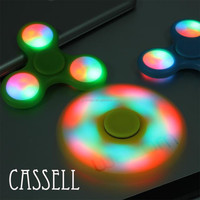 CASSELL Hot finger Spinning high speed Electron Fidget Spinner with colorful lights