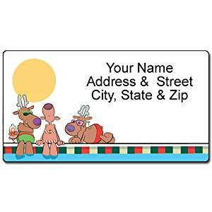 buy pool fun christmas address label custom nautical return