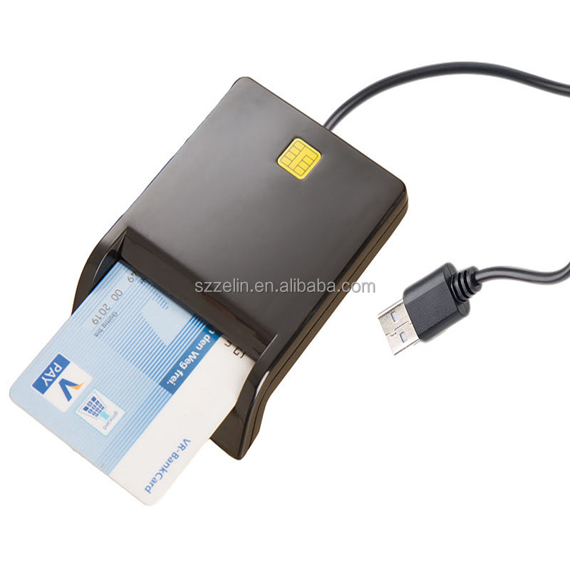 Smart Card Reader CAC Common Access Card Reader ISO 7816 for SIM//ATM//IC//ID Card