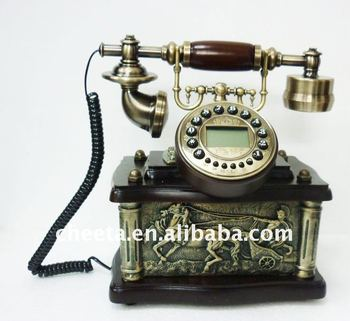 Corded Antique History Old Telephone - Buy Resin With Wooden  Telephone,Novelty Corded Telephones,Wooden Classic Telephone Product on  Alibaba com