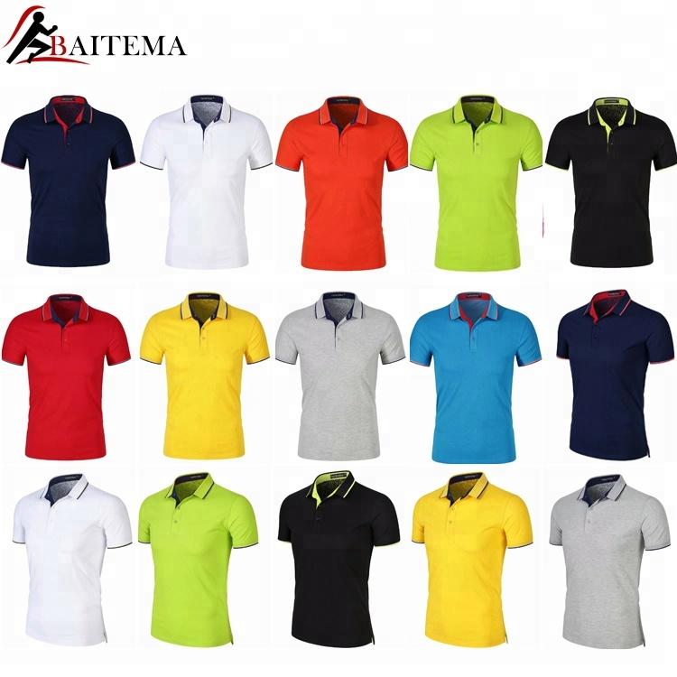 dc132f16 Company custom gift Logo high quality multi-color anti-pilling promotional  T-shirt custom Logo printed men's Polo shirt