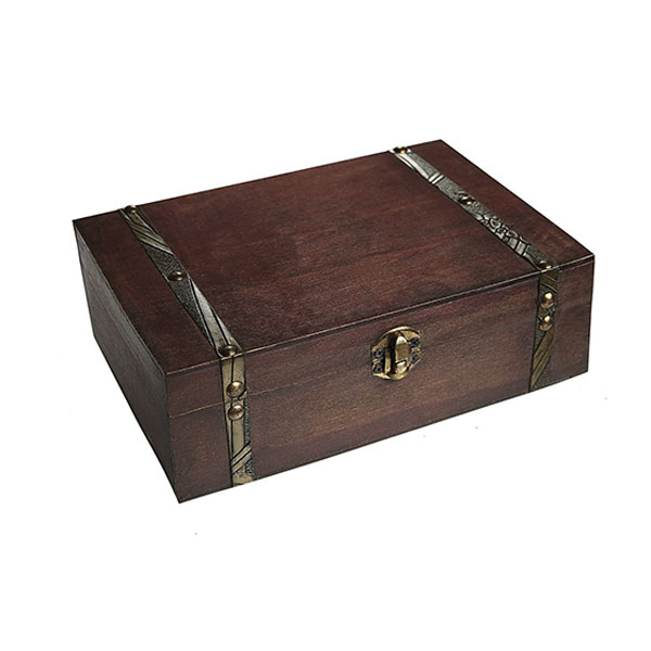 2017 New Vintage Style handmade Pirate wooden treasure chest