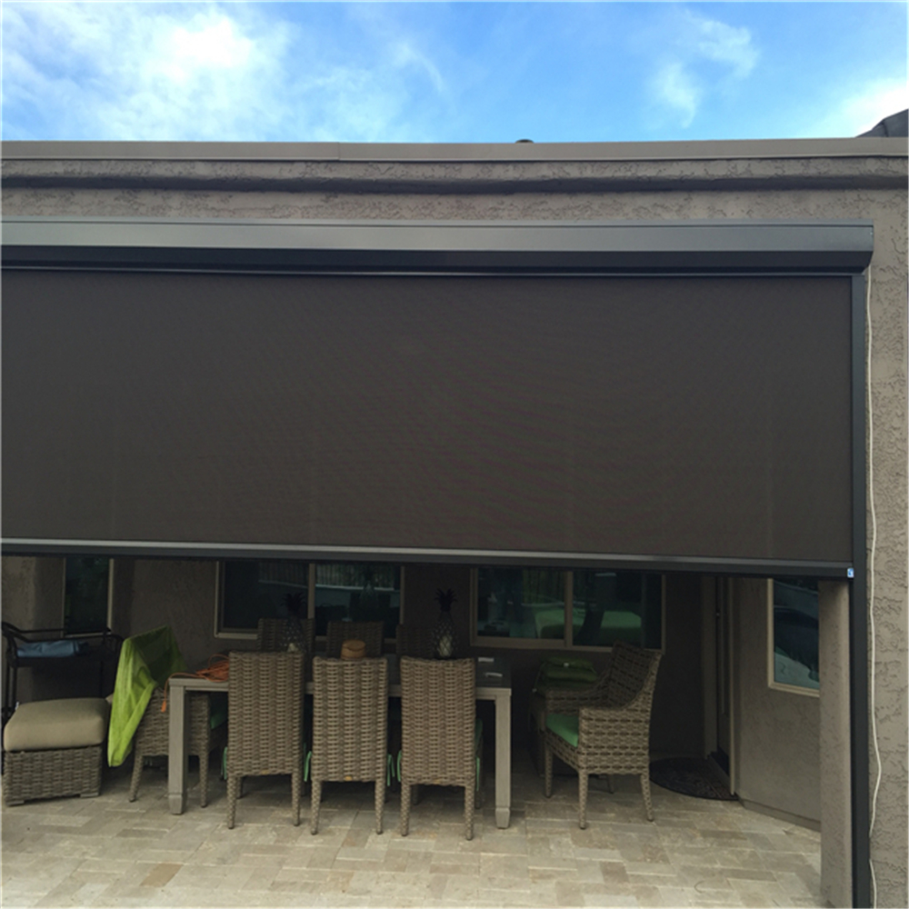 House Outside Blind Outdoor Roller Blind With Side Guide