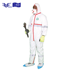 High visibility type 4 & 5 & 6 disposable CE coverall with reflective tapes, safety clothing