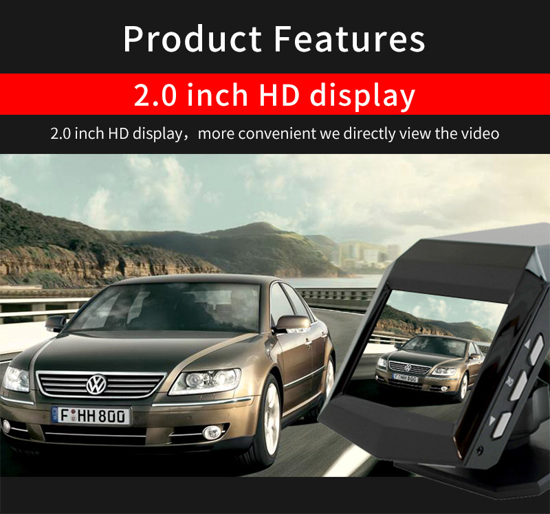 Full HD 1296P Dashcam car black box car video camera recorder with gps