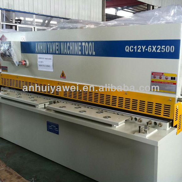 QC12Y Hydraulic Swing-beam Shearing Machine /manual metal cutting machine