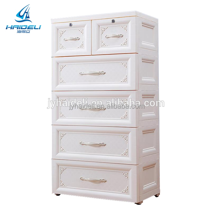 Mini Plastic Storage 5layer Drawer for girl