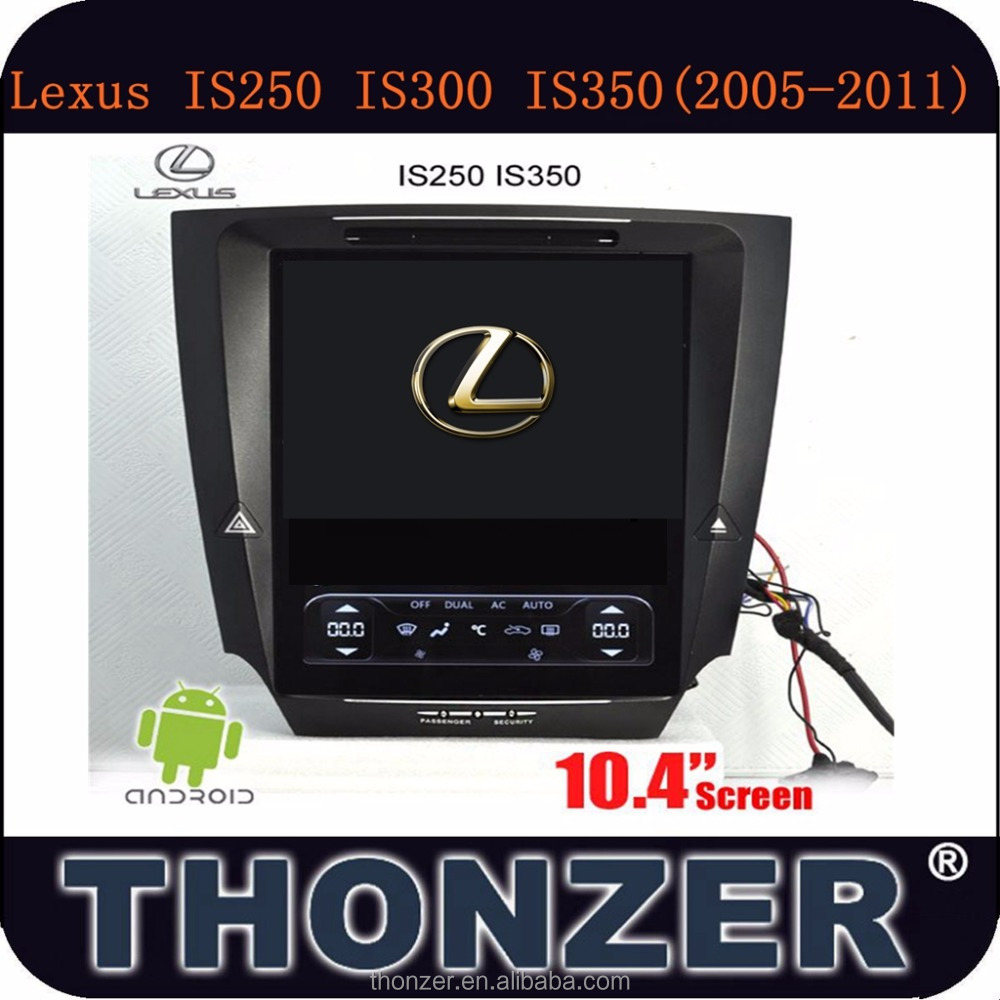 10.4inch Pure android 4.4 for LEXUS DVD Player IS250 IS300 IS350 (2005-2011)