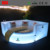 New design luxury Circle shape hotel bed de China fabrica de muebles sex bed with LED lighting