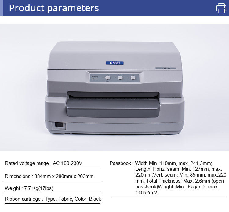 Used PLQ-20 high speed bank passbook printer used printer in 80%- 90% new condition