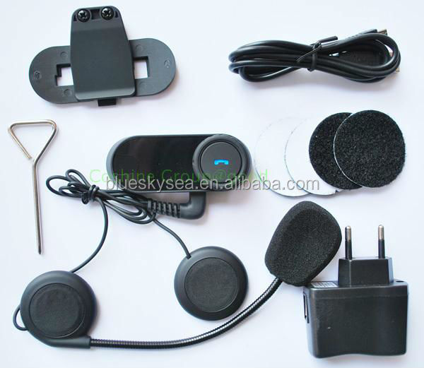 2X 1000m BT interphone bluetooth motorcycle Motorbike helmet intercom Headset