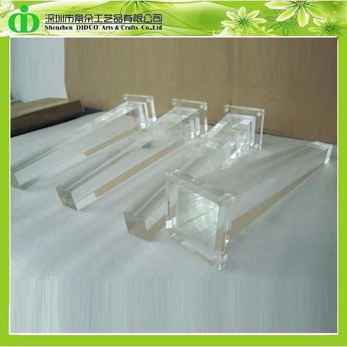 ddh l001 trade assurance acrylic bench leg acrylic furniture legs acrylic legs for acrylic legs for furniture