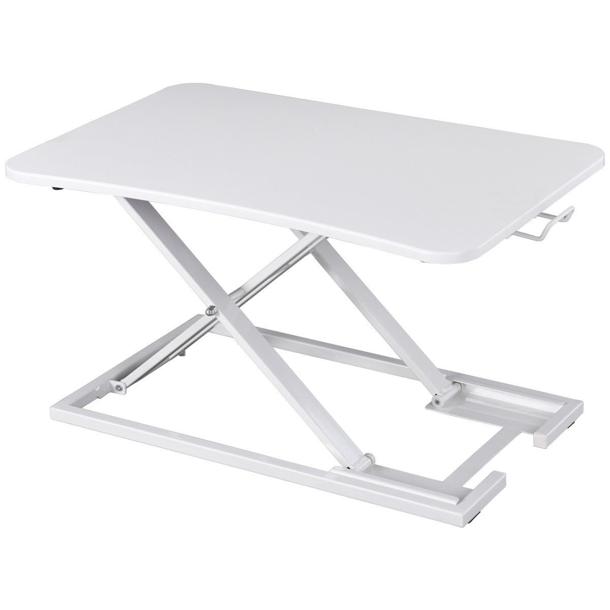 Standing Desk Sit Stand Steady Height Adjustable Instantly Convert Any Desk White