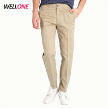 Wellone pas cher casual plaine blanc personnalisé logo de broderie <span class=keywords><strong>en</strong></span> coton <span class=keywords><strong>sergé</strong></span> poches hommes kaki chino <span class=keywords><strong>pantalon</strong></span>
