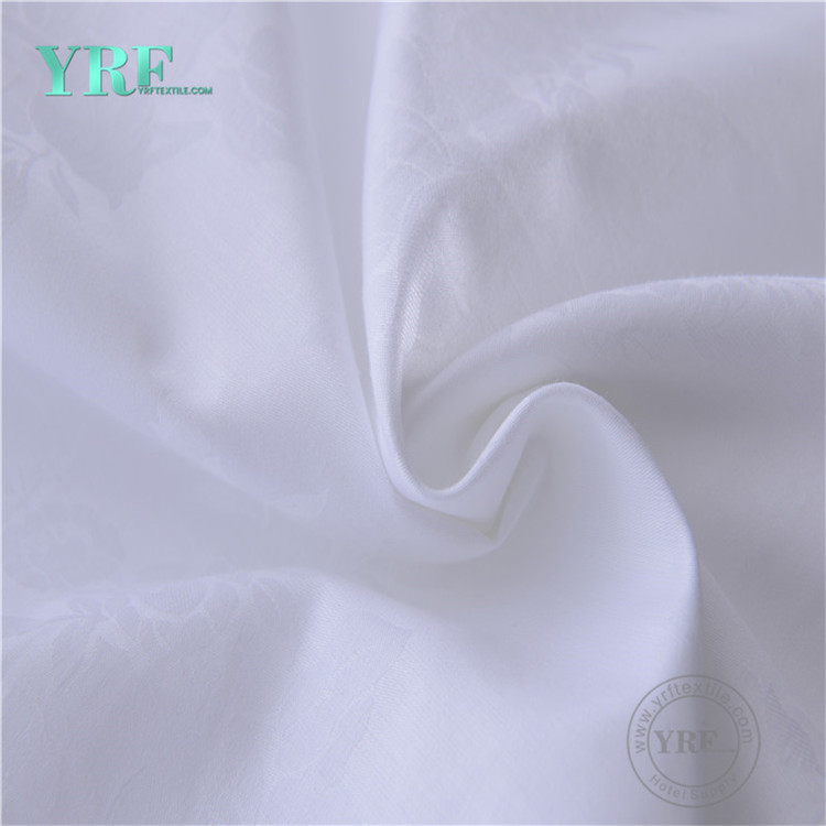 YRF Luxury 100 Cotton 300Tc White Jacquard Made In China Bedding Sets