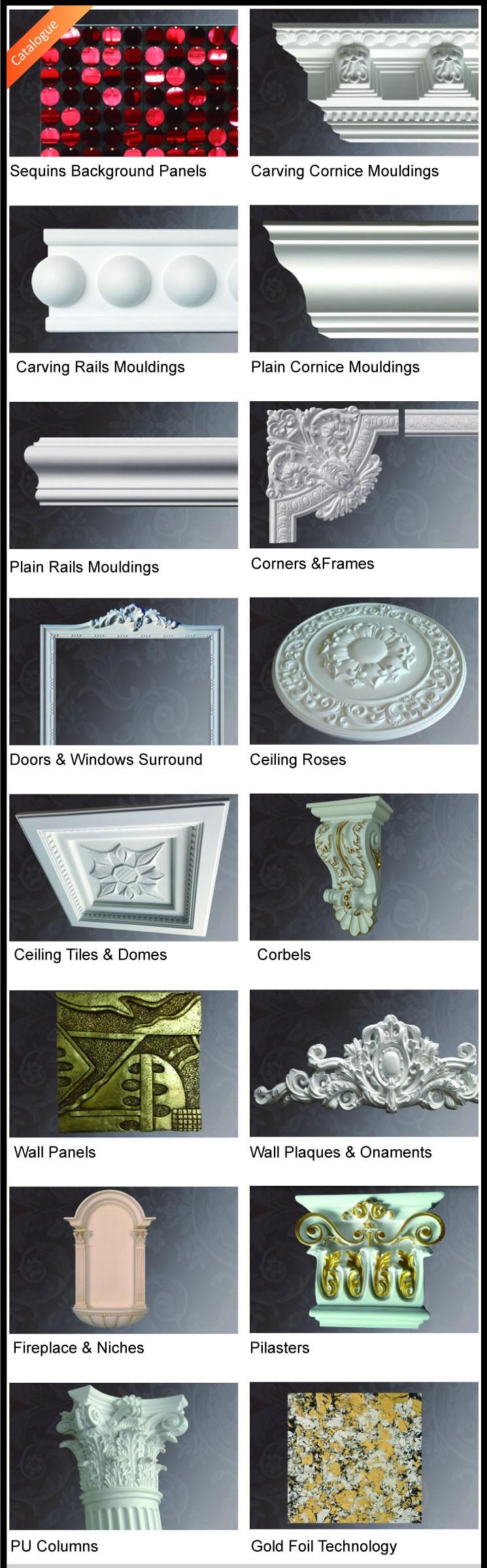 pu marco decorativo esquinas poliuretano pared esquinas y marcos