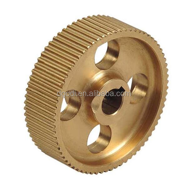 High Quality& Precision Brass M5 Timing Pulley by CNC Machining