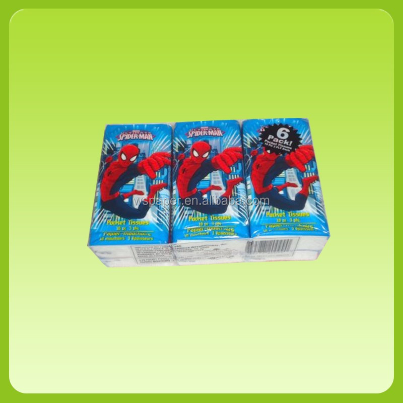 Wholesale Customize super soft 10 sheets 3 ply pocket tissue