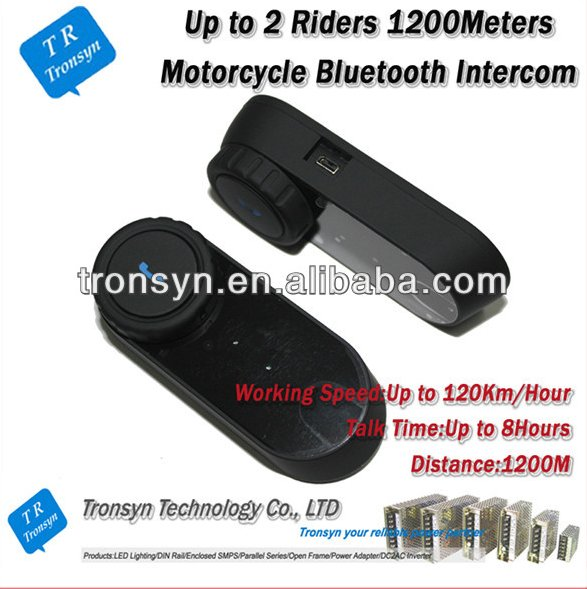 China Manufacture 1000M Full-duplex bluetooth headsets for motorcycle helmets