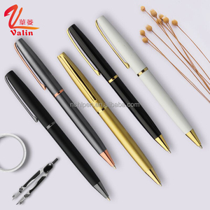 Custom Service metal pen matte finished color twist metal ball point pen with custom logo