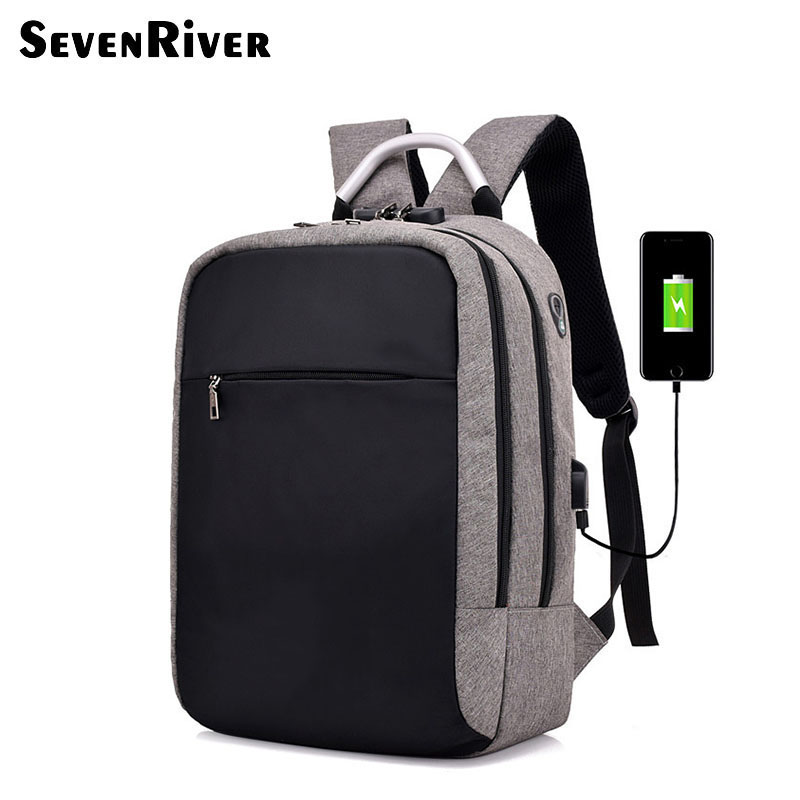 New Design Big Capacity Waterproof Business Travelling Anti-Thief Backpack with USB Port