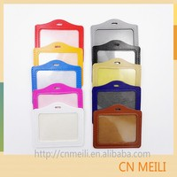 Vertical orientation credit card sized dual sided id card holder