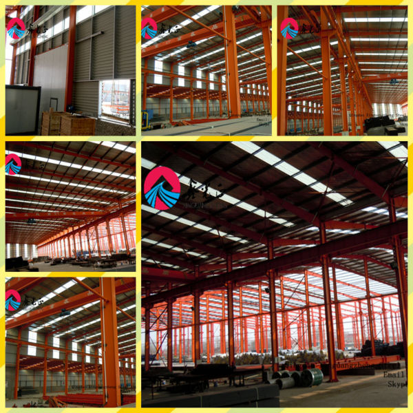 single/long span industrial building steel shed