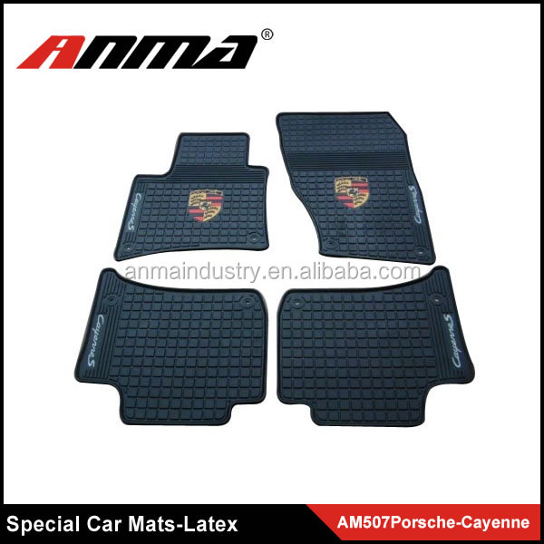 ANMA high quality special car series Black and Beige Latex car mats