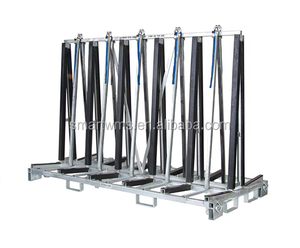 Customized Adjustable Steel Automotive Glass Transport Support Rack