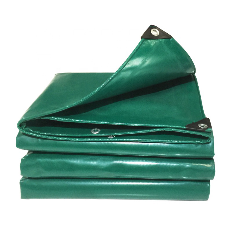0.55mm PVC coated tarpaulin truck cover reinforced edges tarpaulin material tent