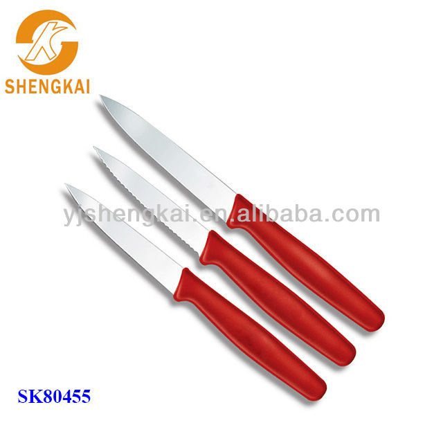 global knives for sale in red color pp handle