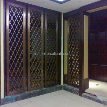 decorative metal screen304 stainless steel panel screen with bronze hairline plating for interior project - Decorative Metal Screen