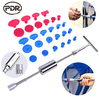 Super PDR Tools Paint less Hail Removal Pulling Tabs Dent Puller Slide Hammer T Bar