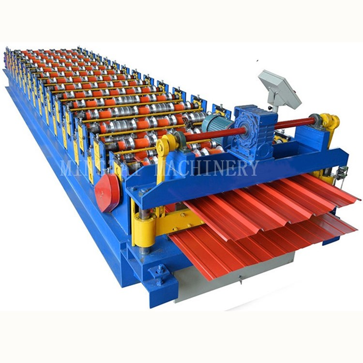 Color <strong>Double</strong> Deck Concrete Roof Tile Sheet Forming Making <strong>Machine</strong>