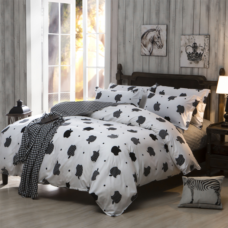 bedding sets cheap polyester cotton bed sheet set king. Black Bedroom Furniture Sets. Home Design Ideas