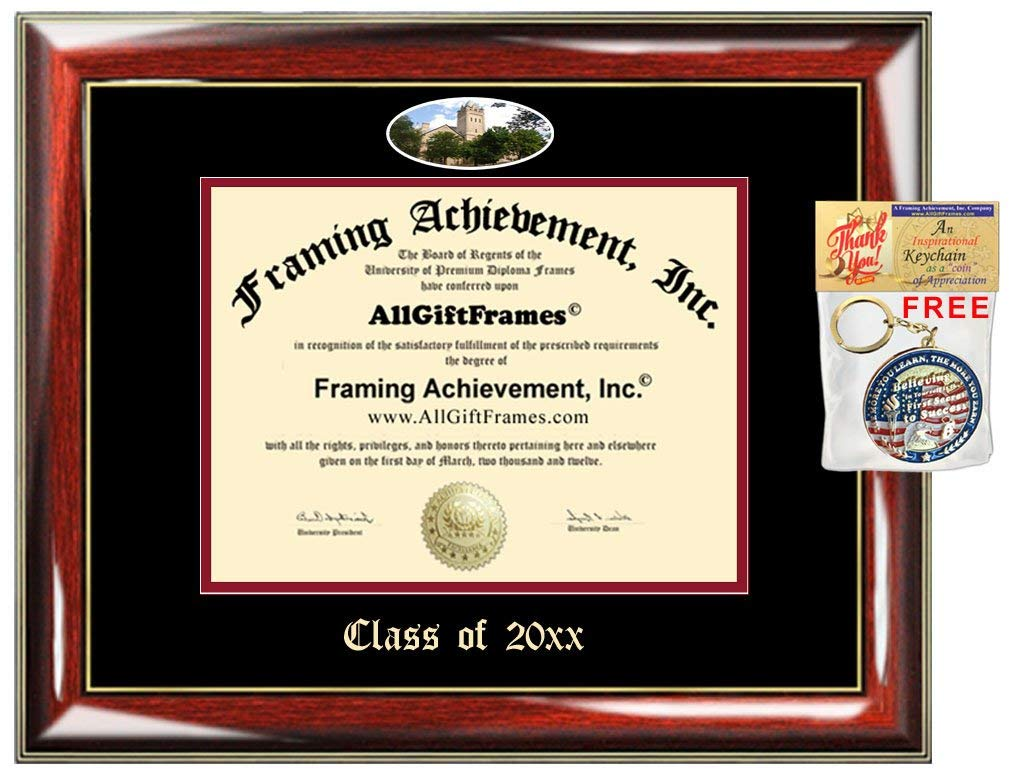 AllGiftFrames Custom Diploma Frame Embossed Ohio Wesleyan University College Best Graduation Degree Frame Double OWU Campus Fisheye Picture Frame Cheap Certificate Graduate Gift