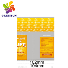 Green pvc shrink label customized sleeve film