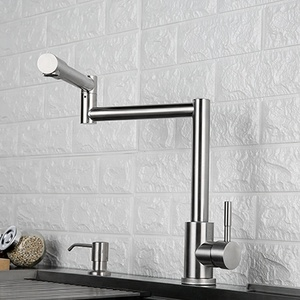 Kitchen Supplies Flexible Sink Water Tap Long Neck Stainless Steel Folding Faucet