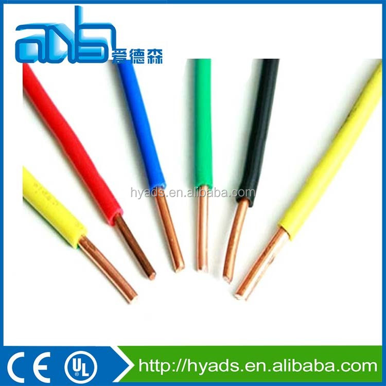 electrical wire factory price 1.5MM copper conductor building cable
