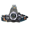 2016 New Outdoor Camping Headlamp Ultra Bright LED Headlight Headlamp Night Fishing Lighting 2 18650 Battery