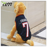 2017 New Colorful Cotton Small Vest Football Pet Sports Outdoors Costumes Dog Clothes Fleece Jacket