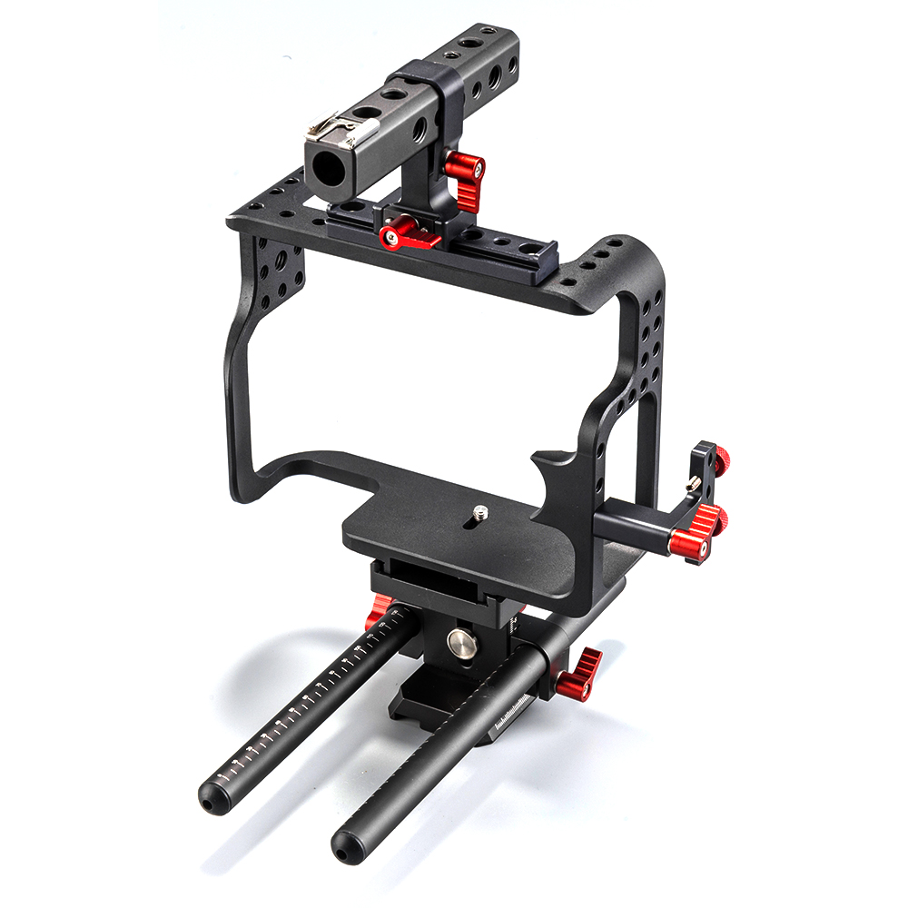 2017 Trending product Can on 5D Mark IV Cage Film Shooting DSLR Camera Cage for Can on camera rig