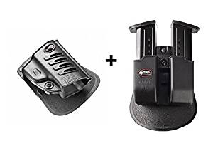Fobus Pistol Case Paddle Holster + Double Magazine Pouch for Beretta PX4 Storm Full size,Compact,Sub-Compact,Type F,SD, Inox,M9,92A1 & 96A1,96 Vertec 40 cal.,Beretta 90-Two .40 S&W,92FS,92 Compact 9mm