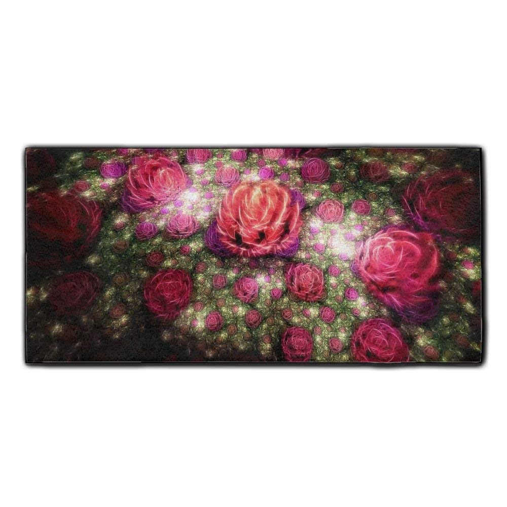 Baerg Microfiber Super Absorbent Face Towel Colorful Roses Buds Hair Care Towel Gym And Spa Towel